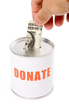 dollar and Donation Box